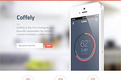 Coffely web site screenshot